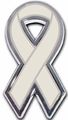 Diabetes Ribbon Chrome Auto Emblem
