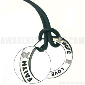 Emphysema Inspire Ring Necklace - Gray