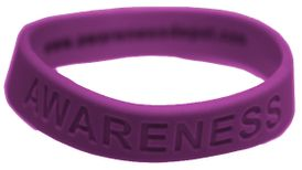 "Purple Silicone ""Awareness"" Bracelet for Epilepsy"
