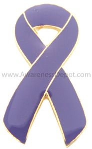Epilepsy Awareness Ribbon Pin