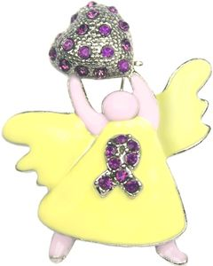 Epilepsy Rhinestone Angel Pin