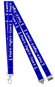 Find it, Fight it, Cure it Colon Cancer Awareness Lanyard