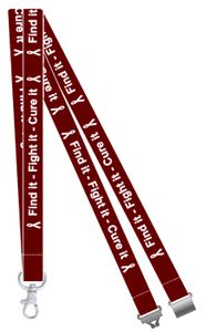 Find it, Fight it, Cure it Head and Neck Cancer Awareness Lanyard