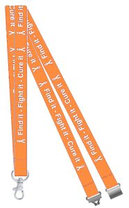 Find it, Fight it, Cure it Kidney Cancer Awareness Lanyard