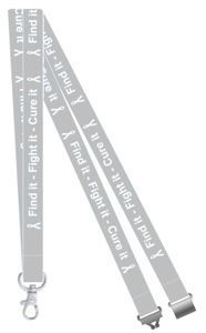 Find it, Fight it, Cure it Lung Cancer Awareness Lanyard