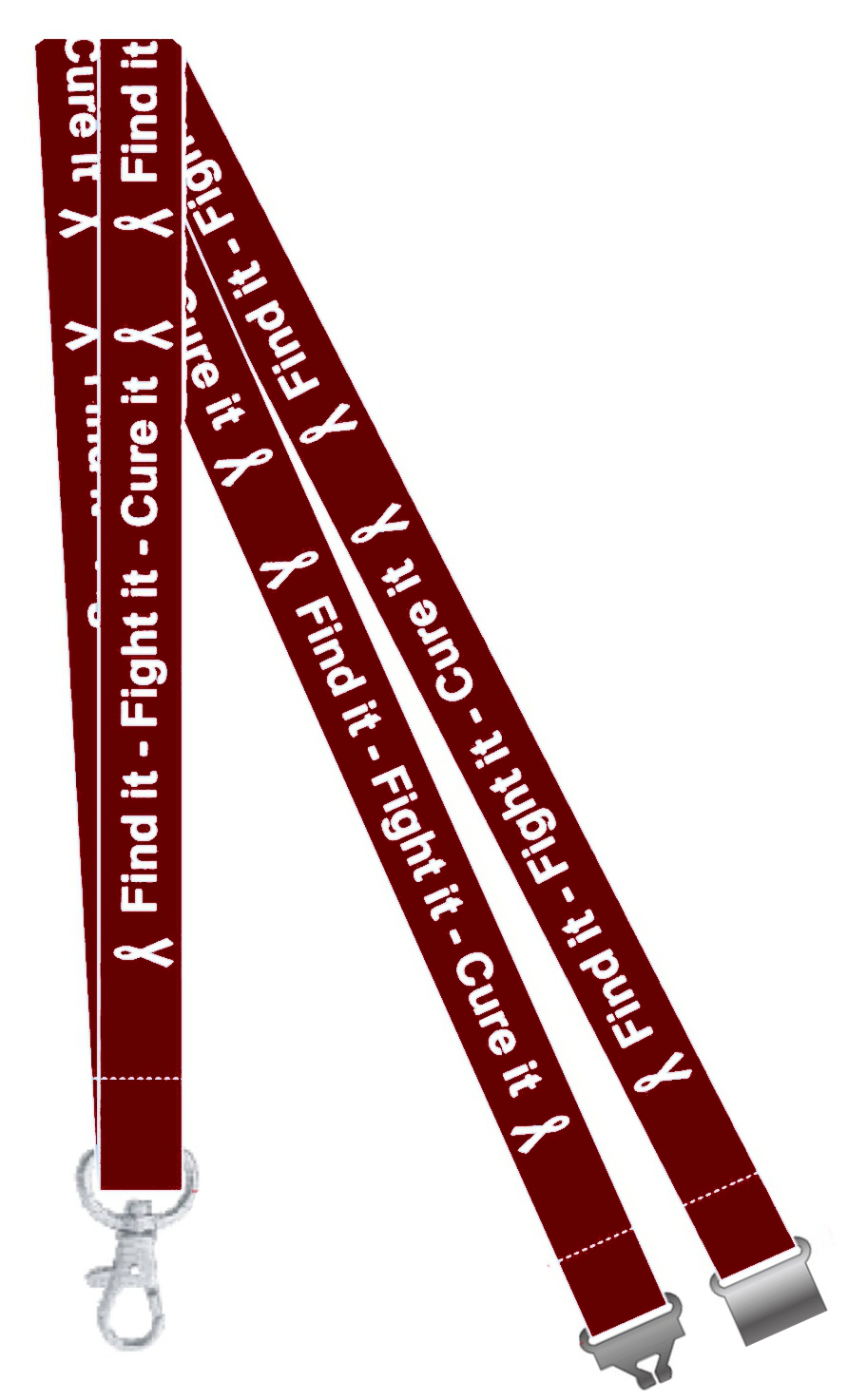 Find it, Fight it, Cure it multiple myeloma Awareness Lanyard