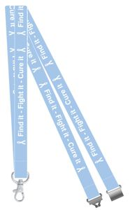 Find it, Fight it, Cure it Prostate Cancer Awareness Lanyard