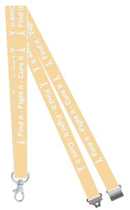 Find it, Fight it, Cure it Uterine Cancer Awareness Lanyard