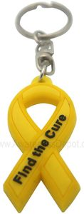 Find The Cure Key Tag Yellow