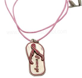 Flip Flop Pink Necklace