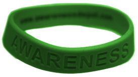 "Green Silicone ""Awareness"" Bracelet for Glaucoma"