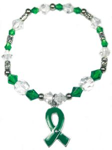 Green Awareness Stretch Bracelet