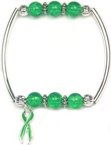 Green Fight Liver Cancer Together Bracelet