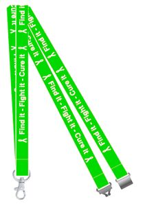 Green Find it, Fight it, Cure it Liver Cancer Awareness Lanyard