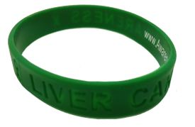 Green Liver Cancer Awareness Silicone Bracelet