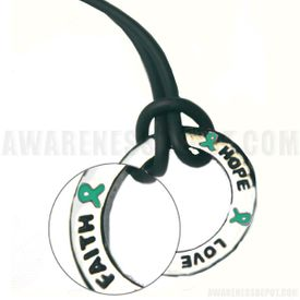 Green Liver Cancer Inspire Ring Necklace