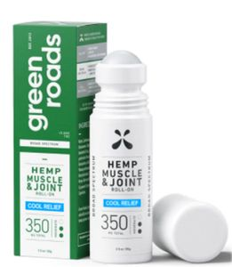 Green Roads Muscle and Joint Cool Relief Hemp Roll - On - 3 oz, 350MG