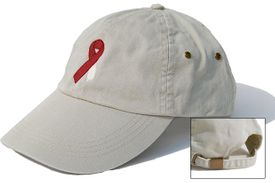 Head and Neck Cancer Ribbon Cap Khaki