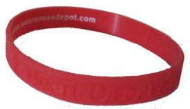 """Heart Disease Awareness Silicone Bracelet in 8"""" or 9"""""""