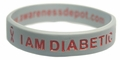 I AM DIABETIC awareness child bracelet