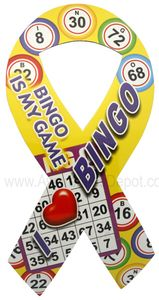 I Love Bingo Ribbon Magnet