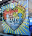 I Love Someone With Autism Sunshade - Static Cling
