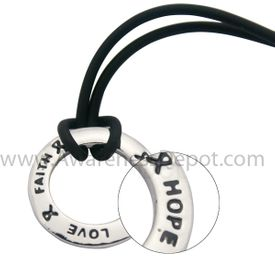 Inspire Ring Necklace Black