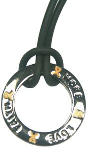 Inspire Ring Necklace - Gold for Childhood Cancer