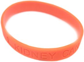 Kidney Cancer Awareness Silicone Bracelet