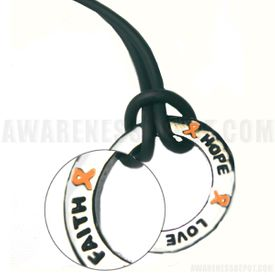 Kidney Cancer Inspire Ring Necklace