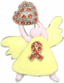 Leukemia Awareness Angel Pin