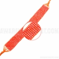Leukemia Hand-woven Orange Beaded Bracelet