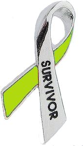 Liver Cancer Survivor Pin - Green