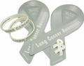 Lung Cancer Awareness Combo Pack: 2 pins, 2 magnets, 2 bracelets