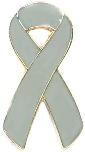 Lung Cancer Ribbon Pin - Gray
