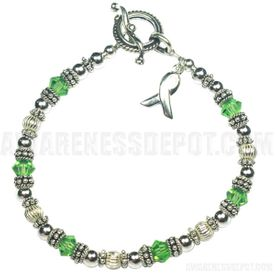 Mental Health Sterling Silver and Swarovski Crystal Bracelet 2