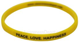 Message Band: Peace, Love, Happiness