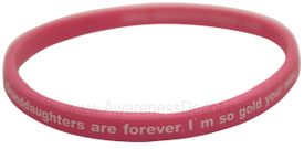 Message Bands: Granddaughters are forever. I'm so glad your mine