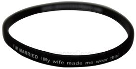 Message Bands: I'm Married...My wife made me wear this.