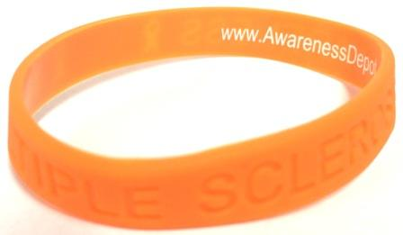 Multiple Sclerosis Awareness Silicone Bracelet