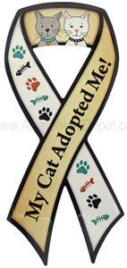 My Cat Adopted Me Ribbon Magnet