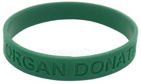 Organ Donation Rubber Bracelet