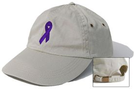 Pancreatic Cancer Ribbon Cap Khaki