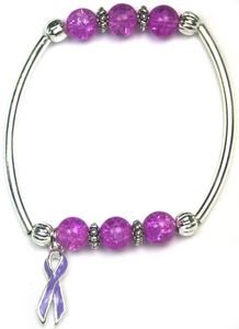 Pancreatic Cancer Together Bracelet - Purple
