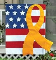 Patriotic Outdoor Yellow Ribbon Flag