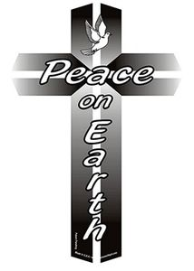 "Peace On Earth Cross Magnet LG 4""x6"""