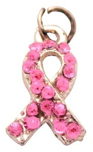 Pink Ribbon Mini Rhinestone Charm