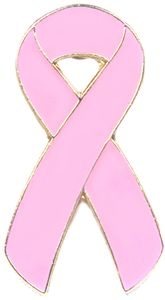 Pink Ribbon Pin for Breast Cancer