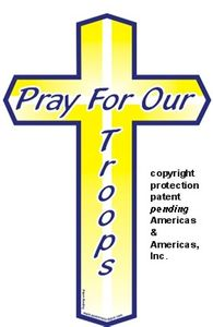 "Pray For Our Troops Cross Magnets Large 4""x6"""