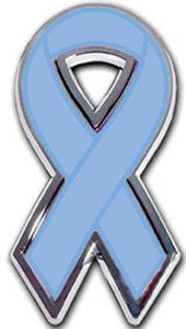 Prostate Cancer Ribbon Chrome Auto Emblem